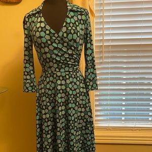 Maggy London geometric faux wrap dress - WOW!
